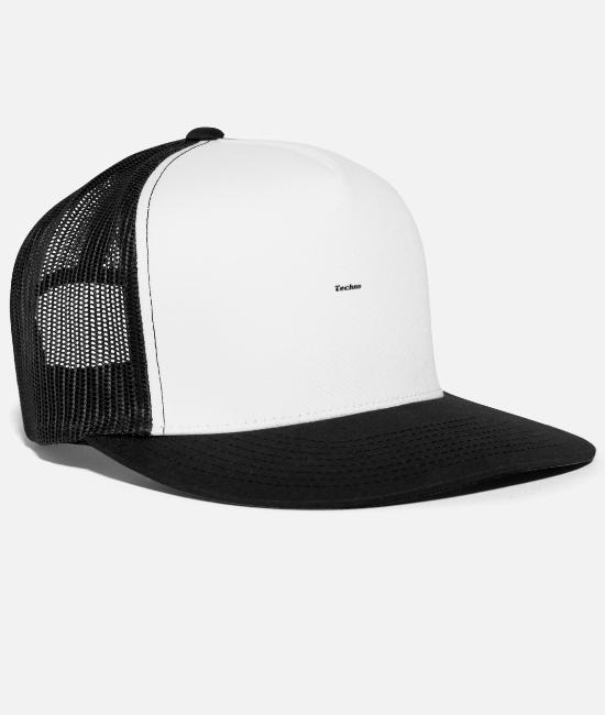 Techno Music Caps & Hats - Techno - Trucker Cap white/black