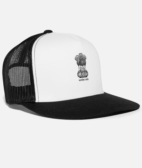 Ahmedabad Caps & Hats - India - Trucker Cap white/black