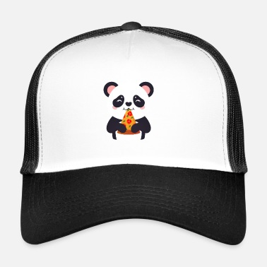 Illustration Cute Panda Pizza Illustration - Trucker Cap