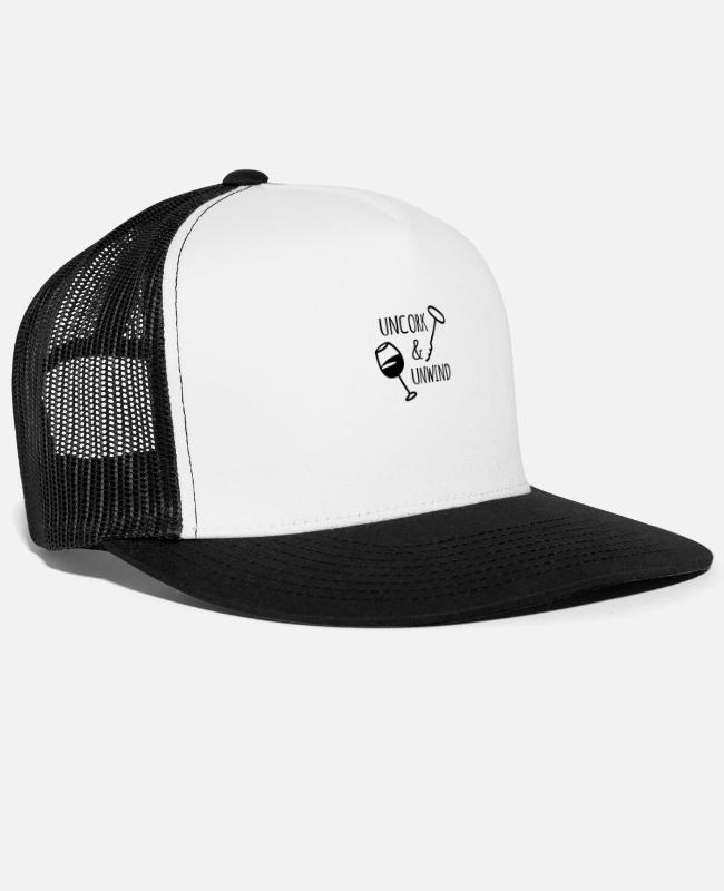 Art Caps & Hats - UNCORK - Trucker Cap white/black