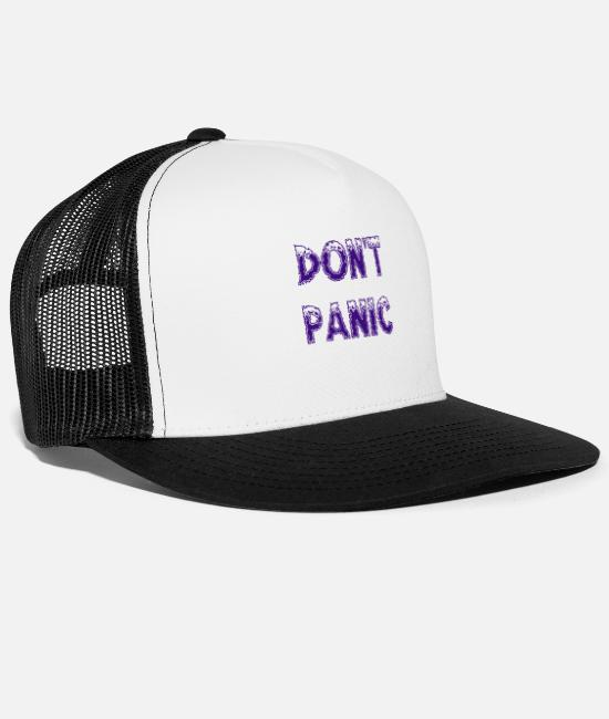 Offensive Caps & Hats - Don't panic - Trucker Cap white/black