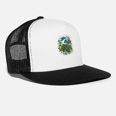 Landschaft Bunter Vogel - Trucker Cap