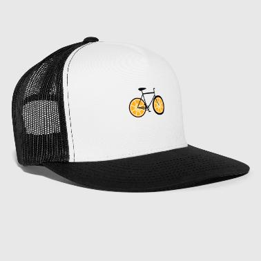 Orange bike - bike, bike, road bike, fixie - Trucker Cap