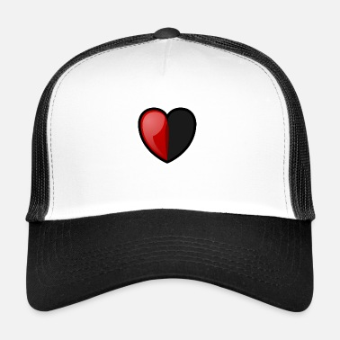 Half Life RPG Heart: Half Full - Trucker Cap