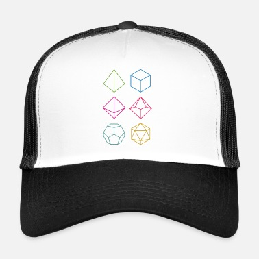 Dungeons And Dragons Minimal dnd (dungeons and dragons) dice - Trucker Cap