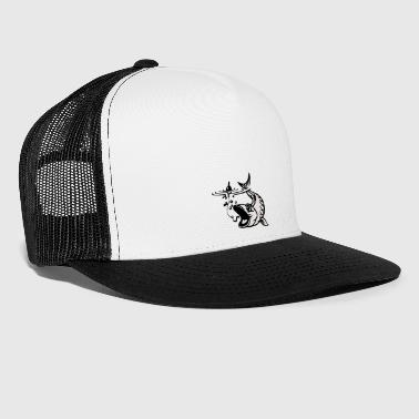 Fish with bait - Trucker Cap