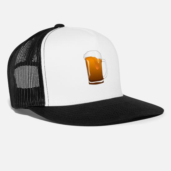 Bachelor Party Caps & Hats - Beer, pitcher - Trucker Cap white/black