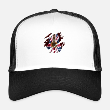 844823e499ab1 British Guitar Flag Inside - Trucker Cap