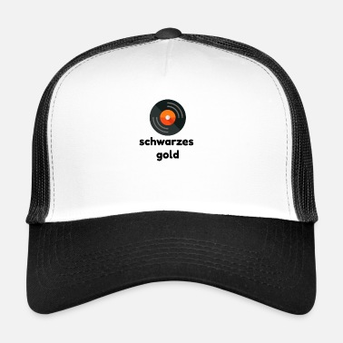 Black Gold Vinyl Lover-collectie - Trucker cap