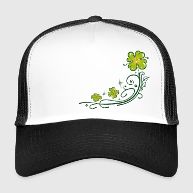 St. Patricks Day. Klavertje vier. Ranke. - Trucker Cap