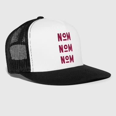 NOM NOM NOM - Red - Trucker Cap