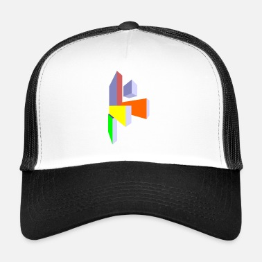 Rectangle rectangles - Trucker Cap