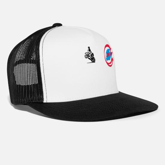 Motor Caps & Hats - motor sport - Trucker Cap white/black