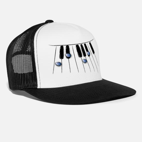 Keyboard Caps & Hats - keyboard - Trucker Cap white/black