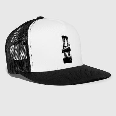 Manhattan Bridge in Brooklyn - Trucker Cap