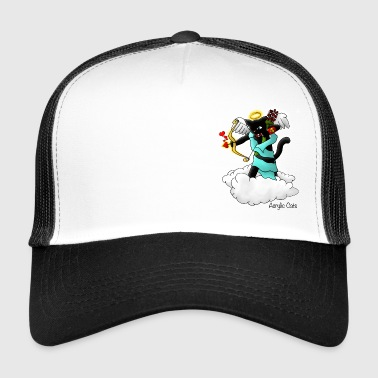 Cupid Valentijnsdag Black Cupid Cat - Trucker Cap