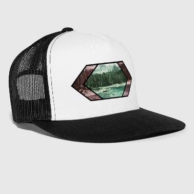 Lake in the mountains - Trucker Cap