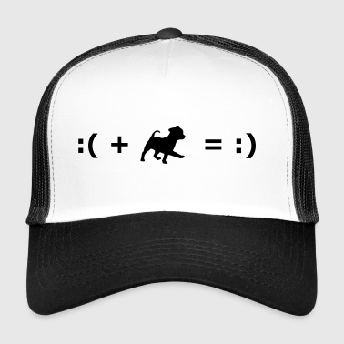 :( + Dog = :) Formula for happiness - Trucker Cap