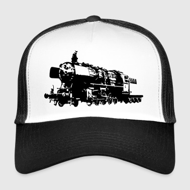 Locomotive Silhouette - steam locomotive - Trucker Cap