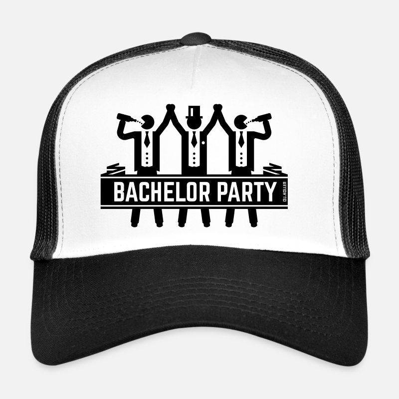 Groom Caps & Hats - Bachelor Party (Stag Night, Groom, Drinking Team) - Trucker Cap white/black