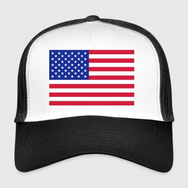 USA Flag - Trucker Cap