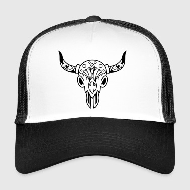 Death's head with horns - Trucker Cap