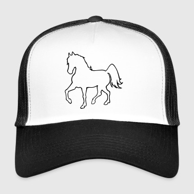 Proud, passing horse as a silhouette - Trucker Cap
