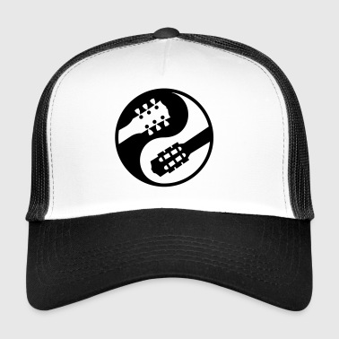 classical guitar vs electric yinyang - Trucker Cap