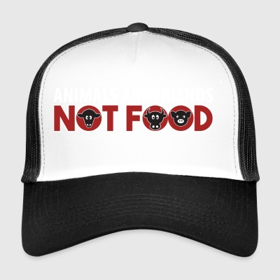 Animals Are Friends Not Food Vegan AF Gift - Trucker Cap