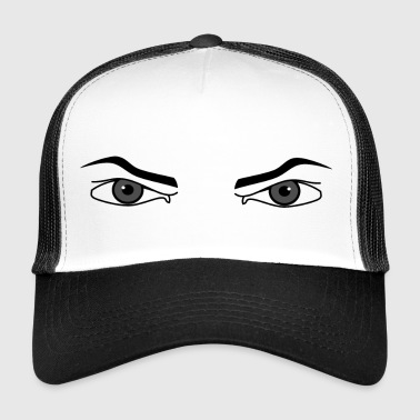 Evil look. Angry eyes male intimidating - Trucker Cap