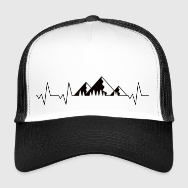 Heart line of the Alps mountains - Trucker Cap