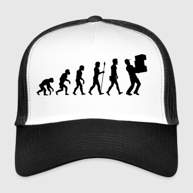 Evolution package delivery t-shirt postman gift - Trucker Cap