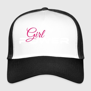 Girl Power rose blanc - Trucker Cap