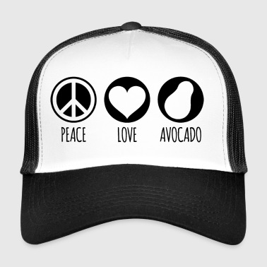 Peace Love Avocado - Trucker Cap