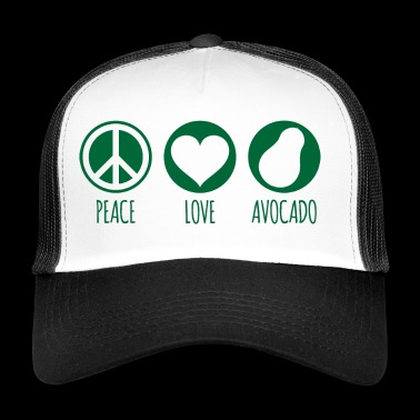 Peace Love Avocado Green - Trucker Cap