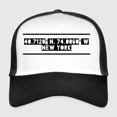 New York Coordinates - Trucker Cap