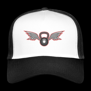 Kettlebell with wings - Trucker Cap