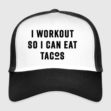 WORKOUT - musta - Trucker Cap