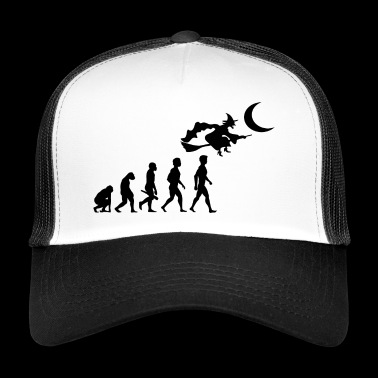 witch witch witch broom witch magic spells2 - Trucker Cap