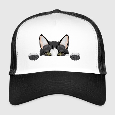 Peeping funny cat - Trucker Cap