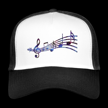 Starry Musical Staff - Trucker Cap