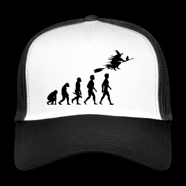 witch witch witch broom witch magic magic4 - Trucker Cap