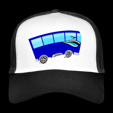 Bus with shark face - Trucker Cap