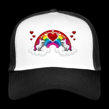 Rainbow and Unicorn - Trucker Cap