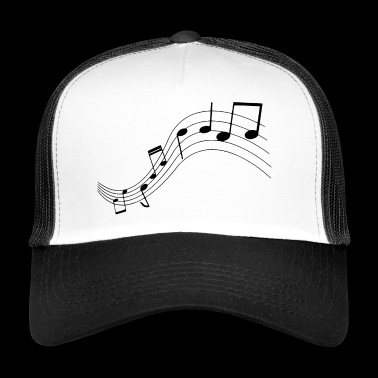 Notes de musique, musique, notes - Trucker Cap