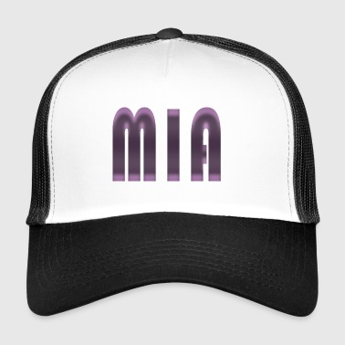 Name Mia First name Name day Birth Gift idea - Trucker Cap