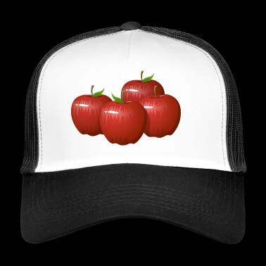 Apple - Mele - Red - Trucker Cap