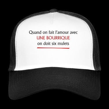 Amour et citation - Trucker Cap
