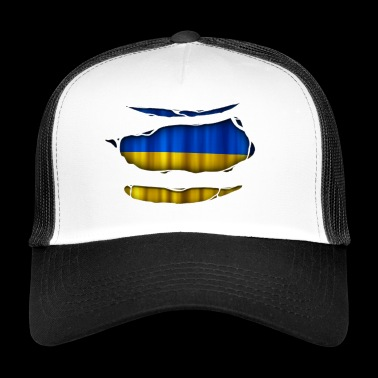 Ukraine Flag Torn 017 - Trucker Cap