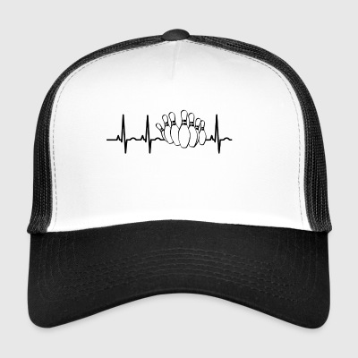 Bowling ekg heartbeat bowler strike legend bowl - Trucker Cap